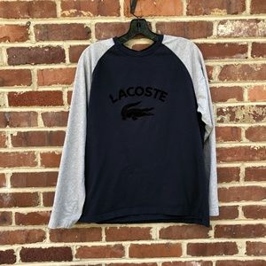 Lacoste Ringer T-Shirt Top Size 6